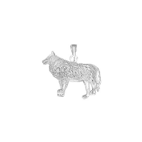 Pendentif loup argent - La Petite Française