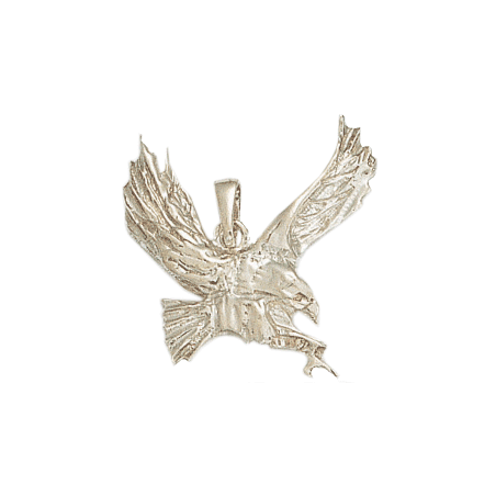 Pendentif aigle en chasse argent - La Petite Française