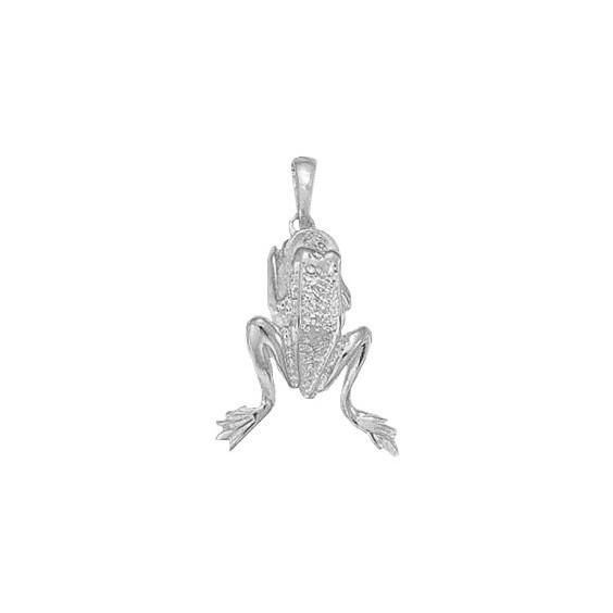 Pendentif grenouille argent - La Petite Française