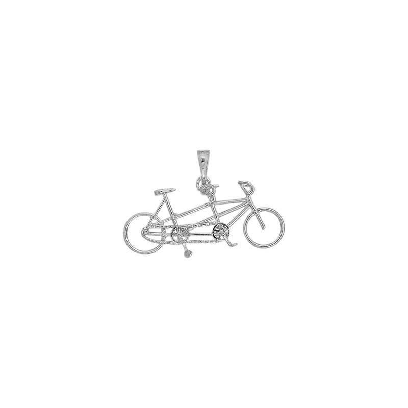 Pendentif vélo tandem argent - La Petite Française