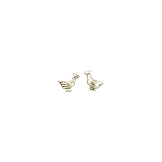 Boucles d'oreilles oies argent - La Petite Française