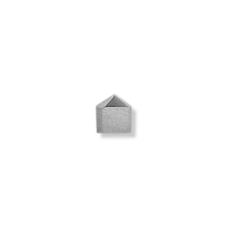 Pendentif ou pin's cube argent - La Petite Française