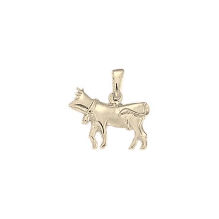 Pendentif vache argent- 19 MM - La Petite Française