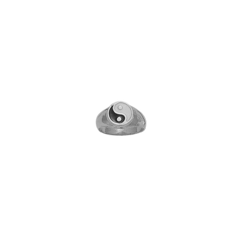 Chevalière Yin-Yang argent - La Petite Française