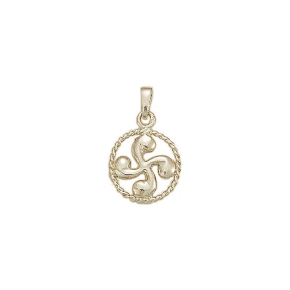 Croix Basque cercle argent - La Petite Française