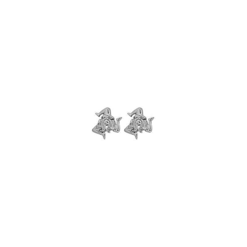 Boucles d'oreilles Trinacria argent - La Petite Française