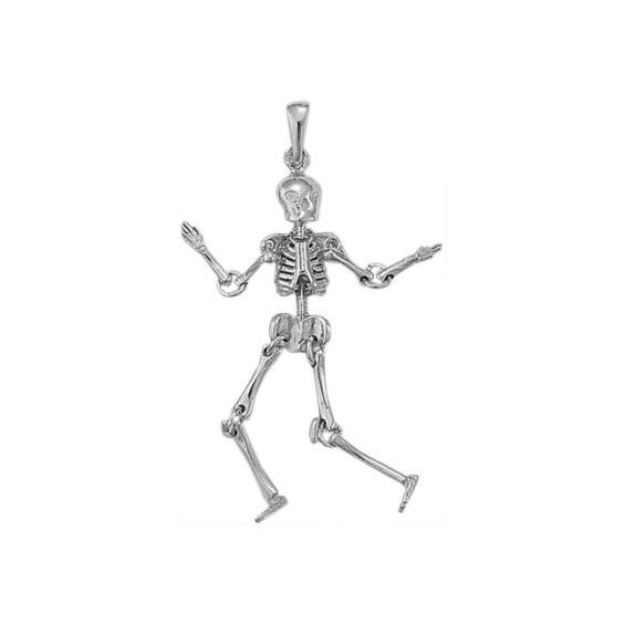 Pendentif squelette en argent - La Petite Française