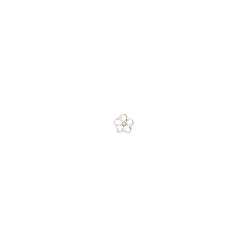 Pendentif ou pin's fleur de myosotis argent - La Petite Française