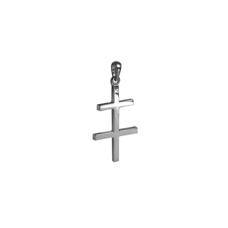 Croix de Lorraine argent - 41 MM - La Petite Française