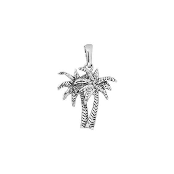Pendentif palmiers argent - La Petite Française