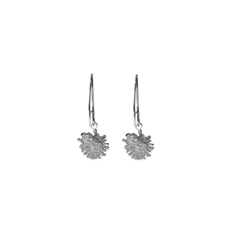 Boucles d'oreilles pendantes hérissons en argent - La Petite Française