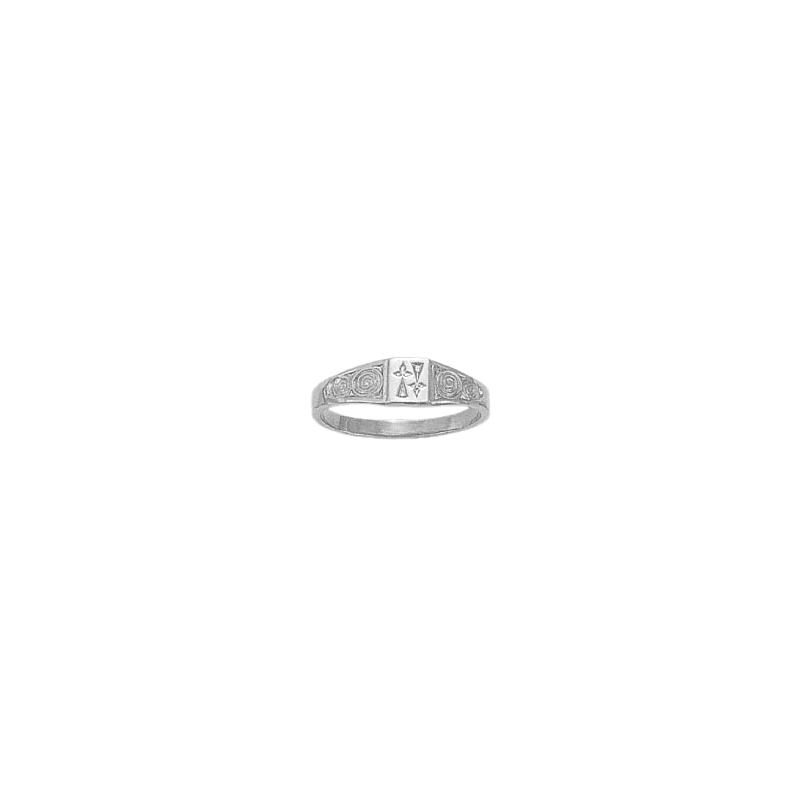 Bague hermine argent - 4 x 4 MM - La Petite Française
