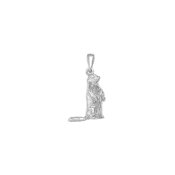 Pendentif marmotte argent - La Petite Française