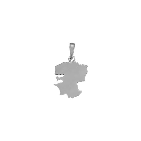 Pendentif carte Finistère argent - 26 MM - La Petite Française