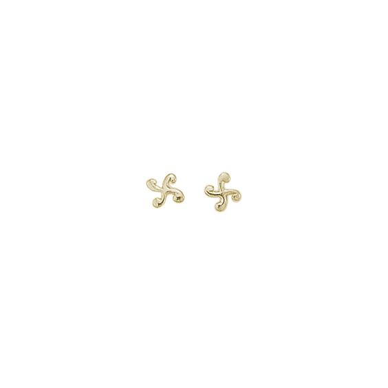 Boucles d'oreilles croix Basque argent - La Petite Française
