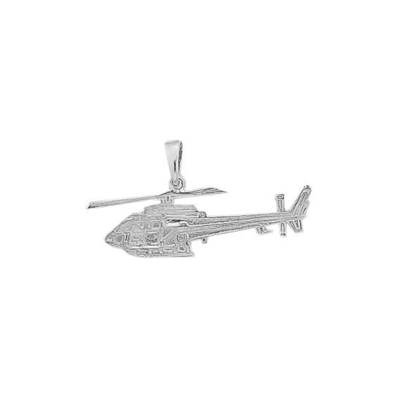Pendentif hélicoptère Ecureuil argent - La Petite Française