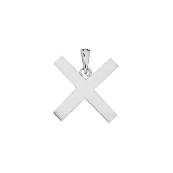 Croix de saint-André en argent - La Petite Française