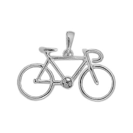 Pendentif vélo argent grand modèle - La Petite Française