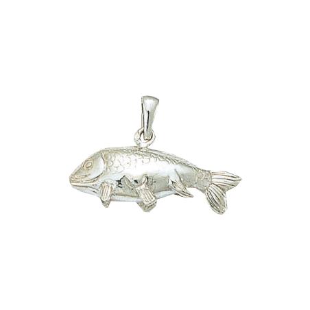 Pendentif poisson carpe argent - La Petite Française