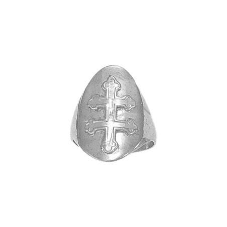 Bague croix de Lorraine argent - La Petite Française
