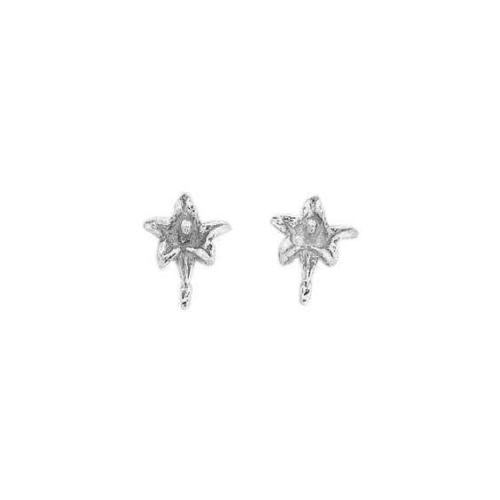 Boucles d'oreilles gentiane argent - La Petite Française