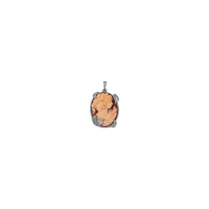 Pendentif camée Eglantine argent - La Petite Française