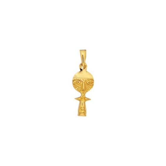 Pendentif poupée Ashanti Or 9 carats jaune- 26 MM - La Petite Française