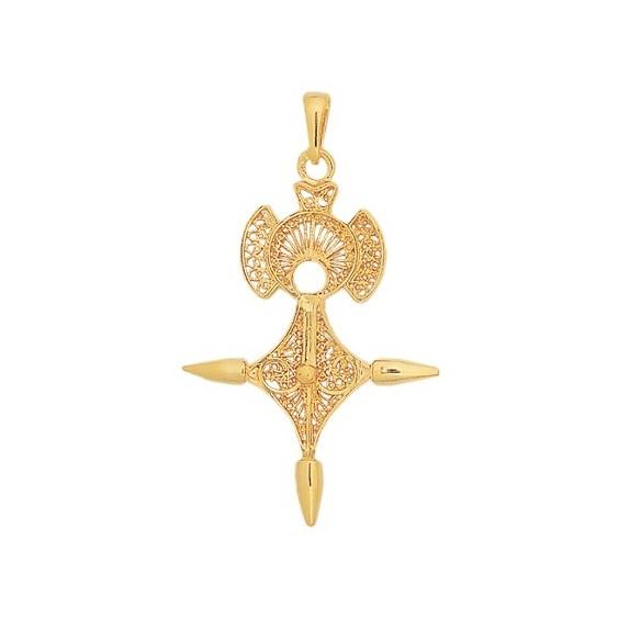 Croix du sud filigrane Or 9 carats jaune - 55 MM - La Petite Française