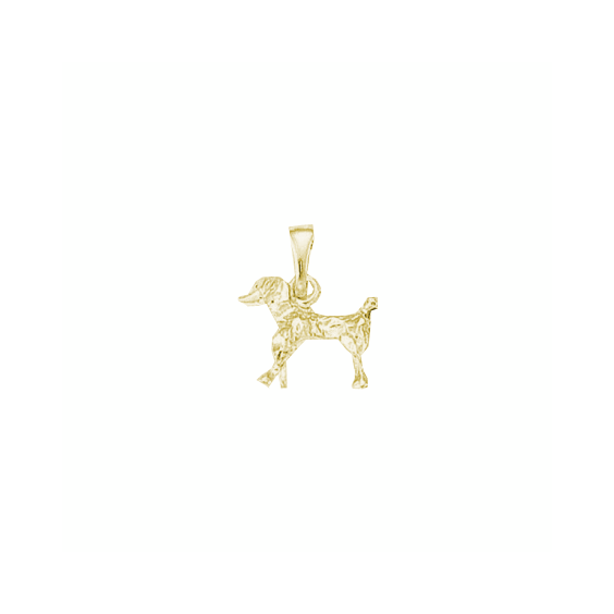 Pendentif chien Caniche Or 9 carats jaune - 18 MM - La Petite Française