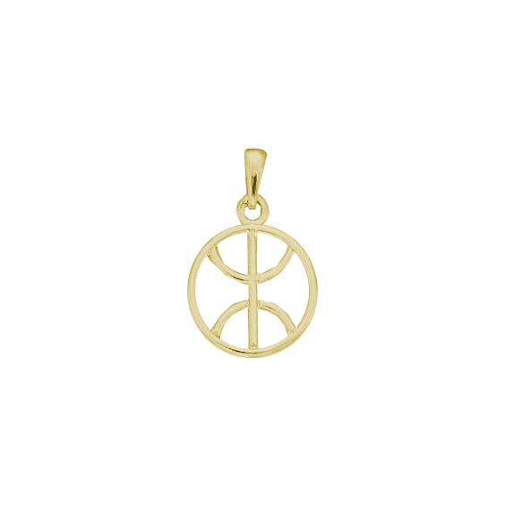 Pendentif Berbère cercle Or 9 carats jaune - 27 MM - La Petite Française