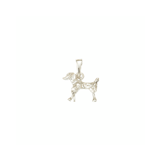 Pendentif chien Caniche Or 9 carats gris - 18 MM - La Petite Française