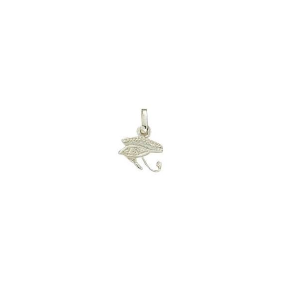 Pendentif oeil d'Horus Or 9 carats gris- 15 MM - La Petite Française