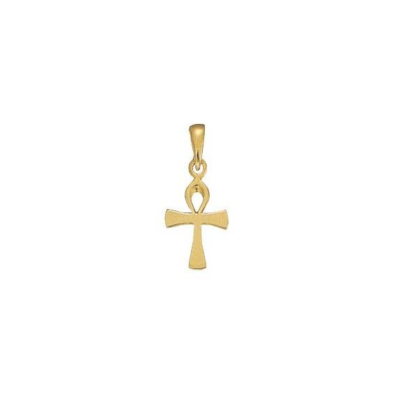 Pendentif Ankh Or 9 carats jaune-  24 MM - La Petite Française