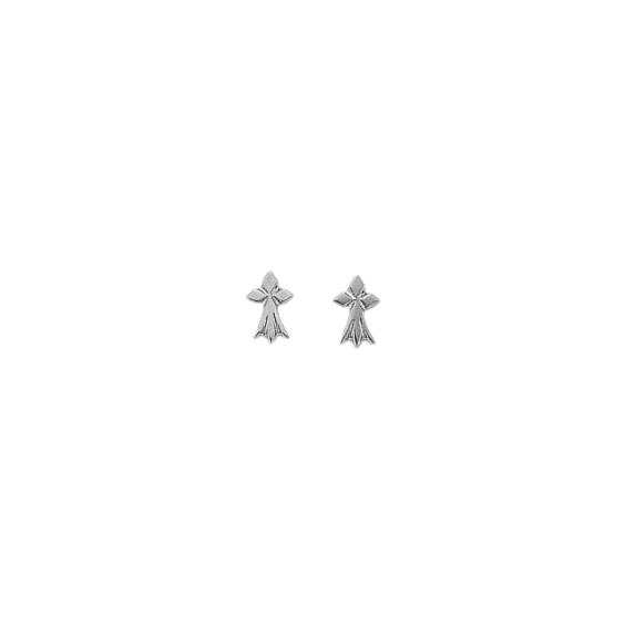Boucles d'oreilles hermine Or 9 carats gris - La Petite Française