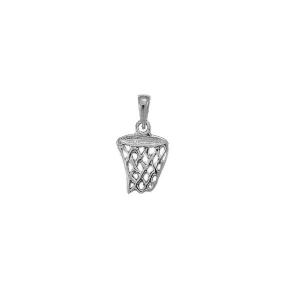 Pendentif panier de basket-ball Or 9 carats gris - La Petite Française