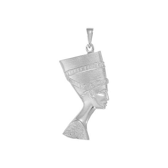 Pendentif reine Nefertiti Or 9 carats gris - 55 MM - La Petite Française