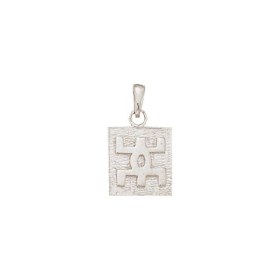 Pendentif Berbère plaque Or 9 carats gris - 26 MM - La Petite Française
