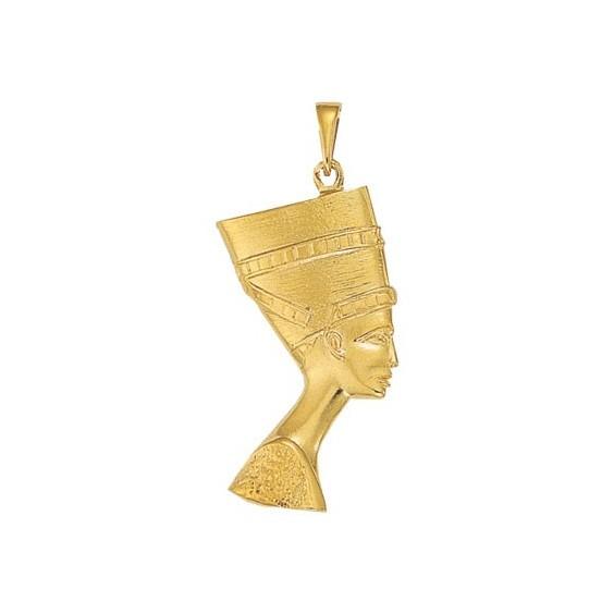 Pendentif reine Nefertiti Or 9 carats jaune - 55 MM - La Petite Française