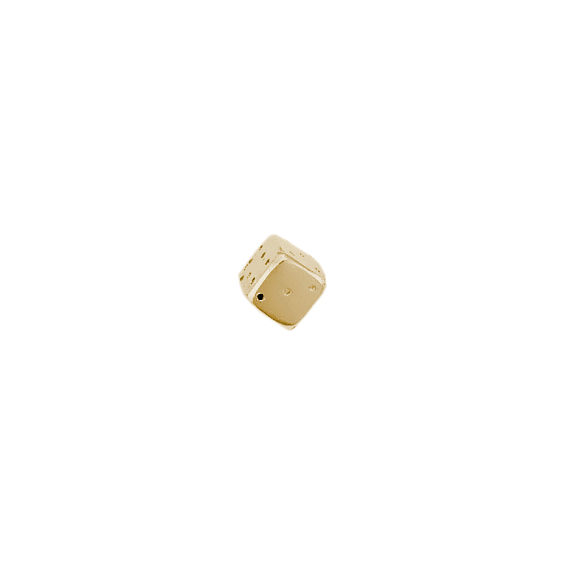 Dé à jouer or 9 carats jaune - La Petite Française