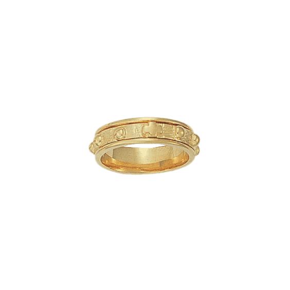 Anneau dizainier tournant Or 9 carats jaune - 6 MM - La Petite Française