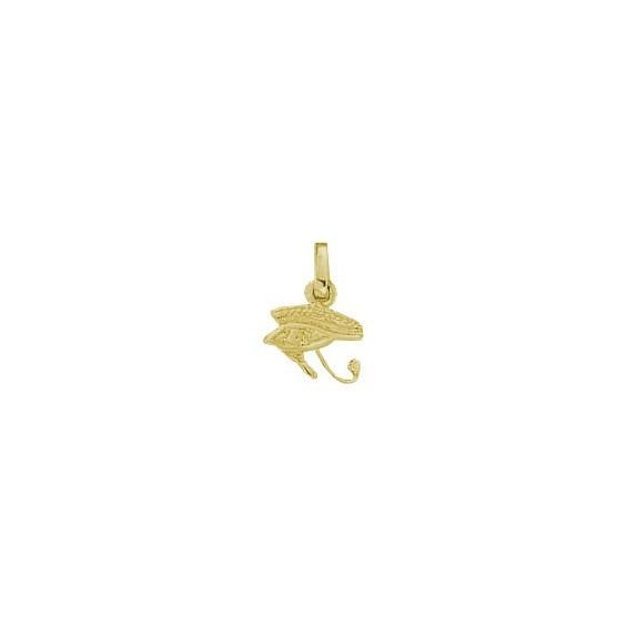 Pendentif oeil d'Horus Or 9 carats jaune - 15 MM - La Petite Française