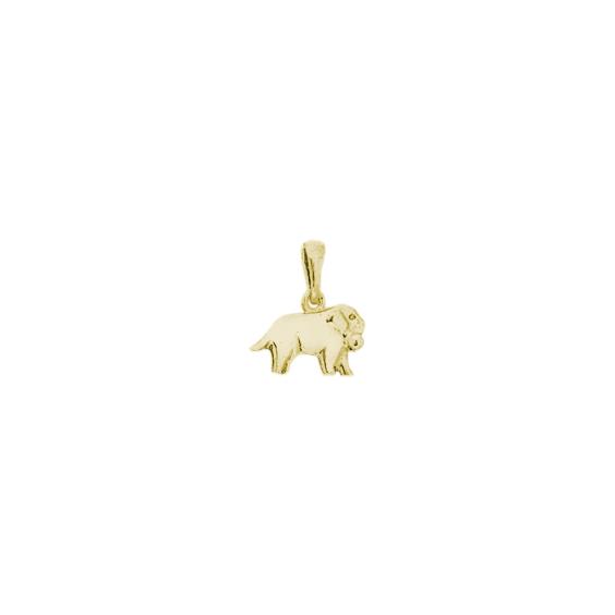 Pendentif chien saint-Bernard Or 9 carats jaune - 16 MM - La Petite Française