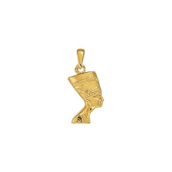 Pendentif reine Nefertiti Or 9 carats jaune - 28 MM - La Petite Française