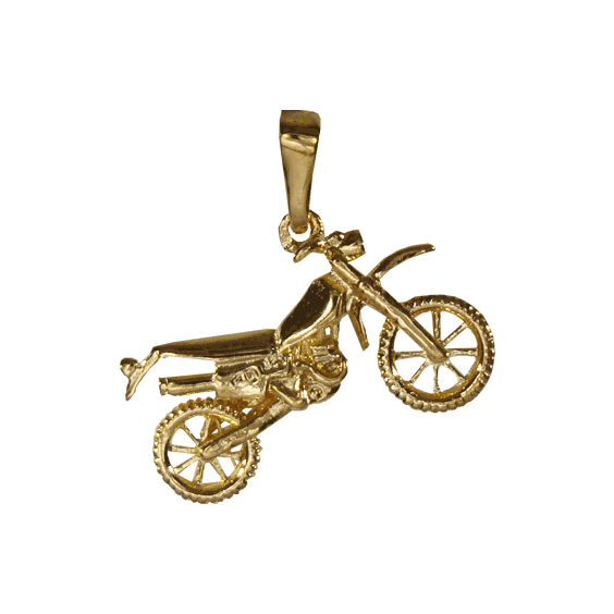 Pendentif moto-cross Or 9 carats jaune - La Petite Française