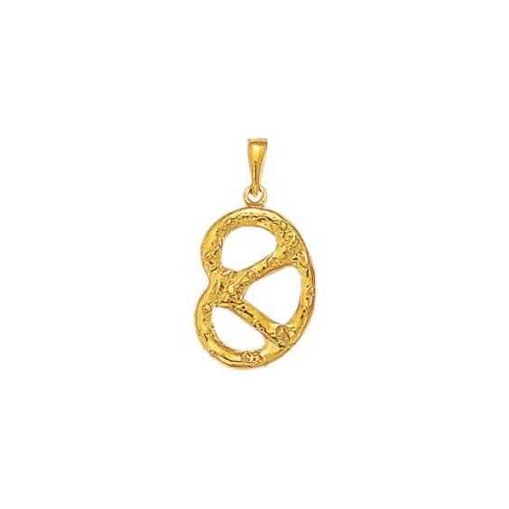 Pendentif Bretzel GM Or 9 carats jaune - La Petite Française