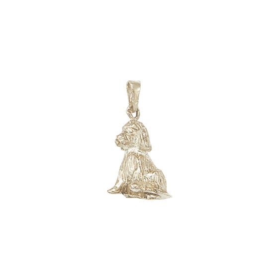 Pendentif chien Cocker Or 9 carats jaune - 27 MM - La Petite Française