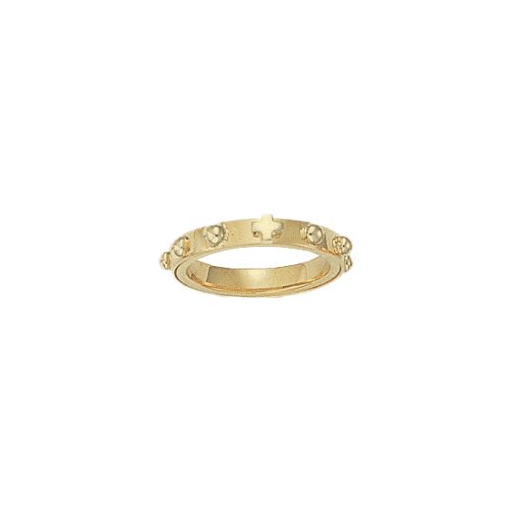 Anneau dizainier tournant Or 9 carats jaune - 3 MM - La Petite Française