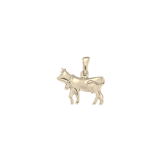 Pendentif vache Or 9 carats gris - 19 MM - La Petite Française