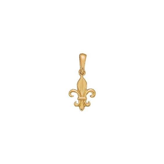 Pendentif Fleur de Lys Or 9 carats jaune - 14 MM - La Petite Française