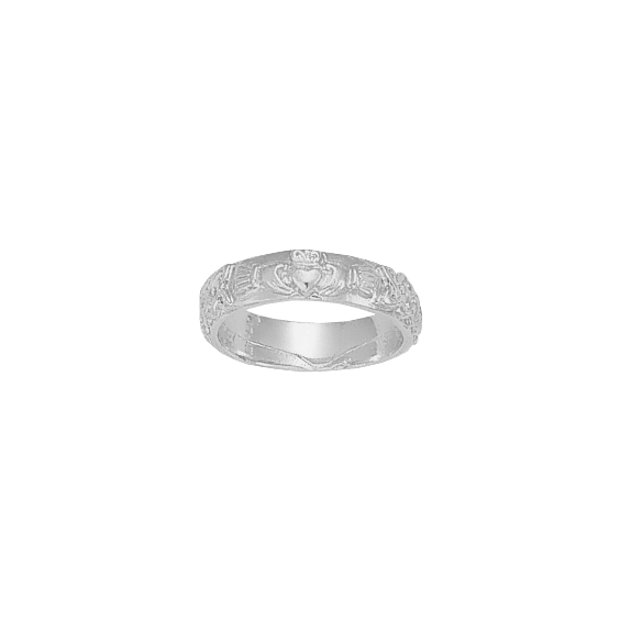 Anneau Claddagh Or 9 carats gris - La Petite Française